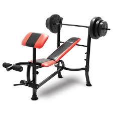 Olympic Bench Set With Weights Competitor Bench 100 Lb Weight Set Cb 2982 Quality Strength
