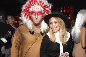 hilary duff addresses native american pilgrim halloween costume