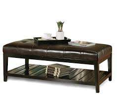 Leather Ottoman Cocktail Table Furniture Cocktail Ottoman Oversized Ottoman Coffee Table