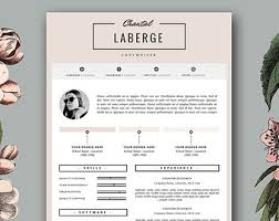 fashion resume templates modern resume template cover letter template for word and