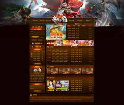unrivaled three kingdoms game site psd template design elements