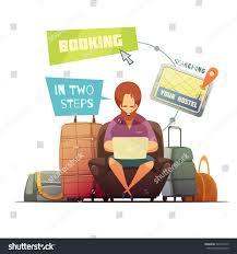 hostel booking design concept cartoon hipster stock vector