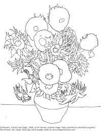 opulent design ideas famous artwork coloring pages irises by