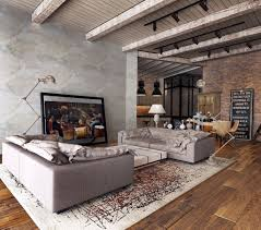 Living Room Ceiling Beams Living Room Design Exposed Ceiling Beams Rustic Industrial Living