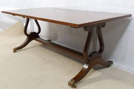 mahogany twin pedestal coffee table