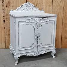muebles decapados en blanco gran mesita vintage blanco decapado tienda de decoración y