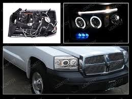 07 dodge dakota chrome halo projector headlights with leds