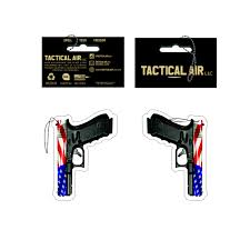 American Flag To Color Red White And Blue American Flag Pistol Air Freshener