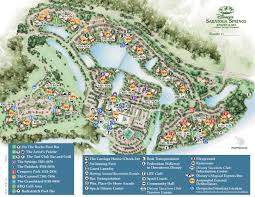 Walt Disney World Maps by Saratoga Springs Resort Spa Map Wdwinfo Com