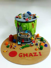 trash pack cartoon characters birthday cakes decorated cakes