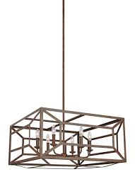 Wide Chandelier F3172 6wi 6 Light Chandelier Weathered Iron