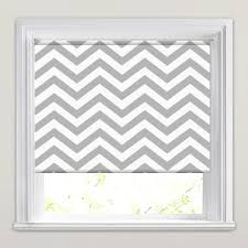 Blue And White Striped Blinds Retro Grey U0026 White Zig Zag Chevron Patterned Roller Blinds