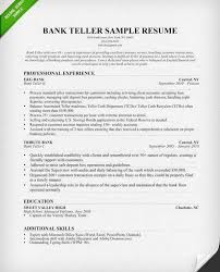 Bank Teller Resume Examples No Experience Teller Resume Example Resume Example And Free Resume Maker