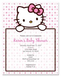 sample of christening invitation hello kitty