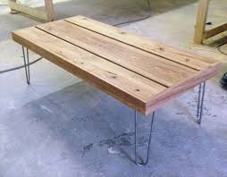 rectangular wood hairpin coffee table great wooden coffee table with hairpin legs 101 pallets concerning