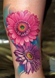 Big Flower Tattoos On - best 25 gerbera ideas on watercolor