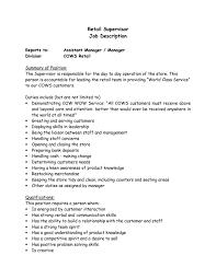Best Resume Job Descriptions by Supervisor Job Description For Resume Resume Examples 2017