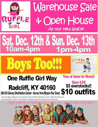 ruffle girl girl warehouse sale