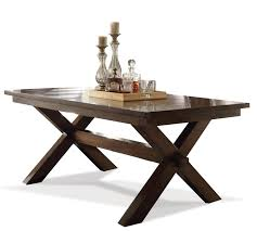 bedford rectangular trestle dining table by riverside home