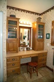makeup vanity l shaped bathroom vanity with makeup attached