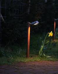 In Lite Landscape Lighting by Moonlight Design Used A Hunza Border Light In Copper Fitted With A