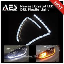 led strip lights headlights aes 2pcs car drl led strip light headlight daytime running light