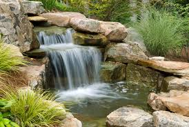How To Build Outdoor Waterfalls Inexpensively - Backyard waterfall design