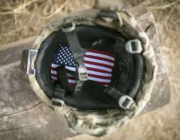 A American Flag Pictures American Flag Lines The Inside Of A U S Soldier U0027s Helmet