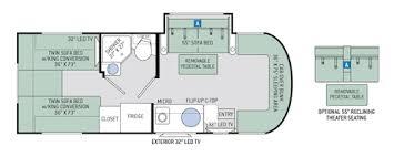 Motorhome Floor Plans Synergy Class C Motorhomes Floor Plans Thor Motor Coach