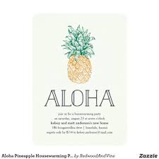 aloha pineapple housewarming party invitation zazzle party