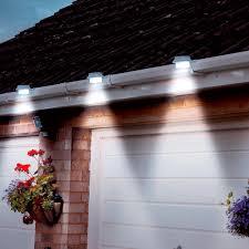 solar gutter lights black solar lighting outdoor living