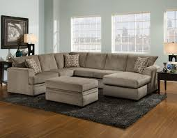 Sectional Sofa With Ottoman American Cornell Pewter Collection Right Facing Chaise Sectional