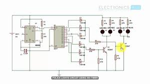 On Off Timer Circuit Diagram Police Lights Using 555 Timer And 4017 Counter Youtube