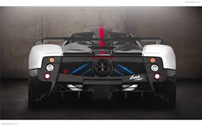 pagani back pagani zonda cinque roadster 2009 widescreen exotic car photo 05