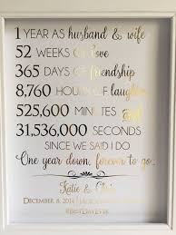 husband anniversary gift ideas gold foil print 1st anniversary gift for husband or