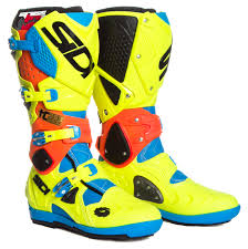 mx boots sidi mx boots crossfire 2 srs tc222 yellow light blue orange 2017