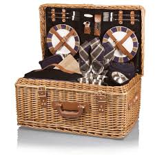 picnic basket for 4 picnic time style willow suitcase picnic basket