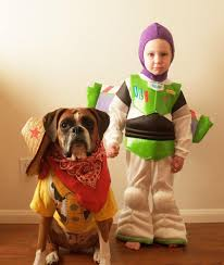 Toy Story Halloween Costumes Adorable Boy Dog Coordinate Halloween Costumes