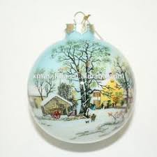 single glass ornament producer cottages houses