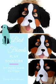 halloween dog mask the cutest puppy mask pattern for halloween or a kids party or