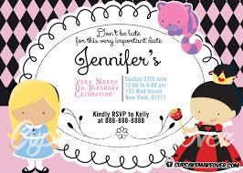 personalized alice in wonderland invitation archives cupcakemakeover