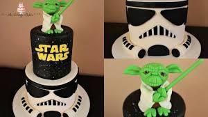 star wars yoda stormtrooper cake tutorial youtube