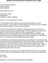 clinical research cover letter clinical research analyst cover letter