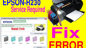 epson r230 waste ink pad resetter free download service required epson stylus photo r230 r230x issue fix youtube