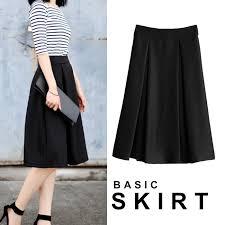 knee length skirt bloomingshop rakuten global market lovely plain fabric