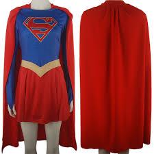 cape for halloween costume cbs tv supergirl skirt cape cloak superheroine women halloween