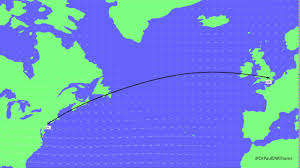 Jfk Map How Flight Routes From Ny Jfk To London Lhr Vary Daily With The