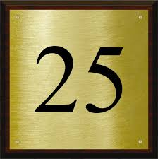 House Plate Brass House Number Plaque With Dark Timber Back Plate