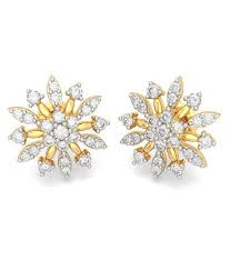 bluestone earrings bluestone 18k yellow gold diamond gale earrings buy bluestone 18k