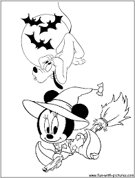 disney halloween coloring pages free printable colouring pages